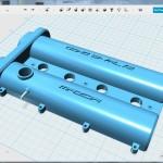 ミニチュアヘッドカバー用3Dデータ 完成