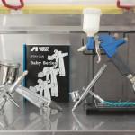 IWATA低圧0.4mmガン導入