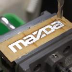 ロードスターヘッドカバー用MAZDA凸文字 完成