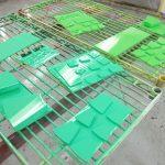 色相環色見本制作⑪ グリーン系3色本塗り