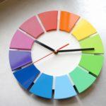 色相環壁時計【25センチ・艶あり・背板白】完成