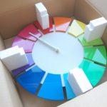 色相環壁時計30センチ 梱包準備